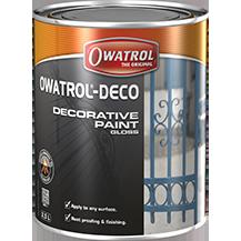 OWATROL DECO BLACK RAL 9005 .75L