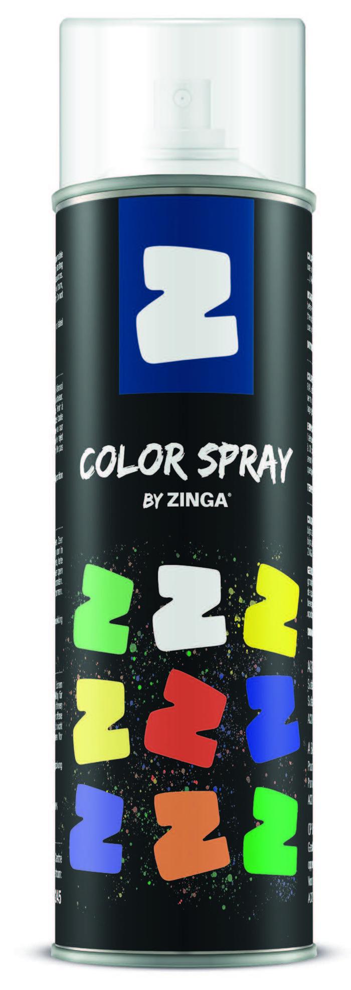 ZINGA COLOR SPRAY RAL 9017 BLACK MATTE