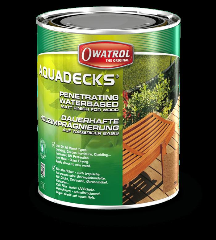 Owatrol Aquadecks Graphite Grey 1L